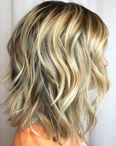 Pretty Wavy Blonde Shag Haircuts