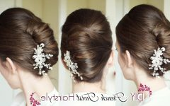 French Twist Updo Hairstyles for Medium Hair