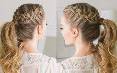 Messy Dutch Braid Ponytail Hairstyles