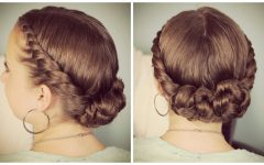 Double-twist Bun Updo Hairstyles