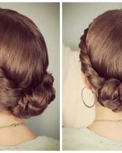 Double-twist Bun Updo Hairstyles