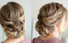 Teased Fishtail Bun Updo Hairstyles