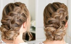 Plaited Low Bun Braid Hairstyles