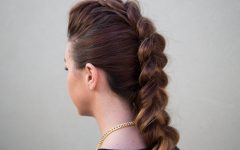 Long Braided Faux Hawk