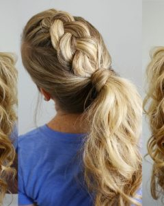 Ponytail Hairstyles With Dutch Braid