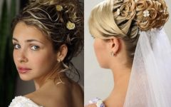 Up Hairstyles with Veil for Wedding