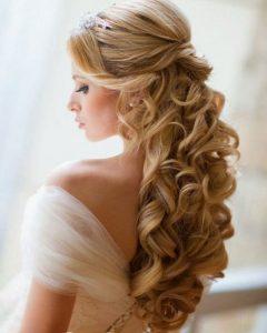 Long Hair Down Wedding Hairstyles