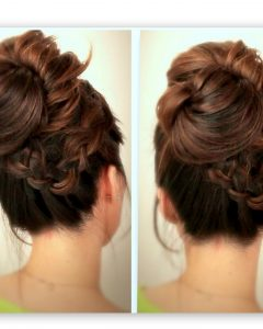 Quick Messy Bun Updo Hairstyles