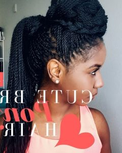 Cornrows And Senegalese Twists Ponytail Hairstyles