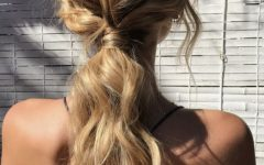 Simple Blonde Pony Hairstyles with a Bouffant