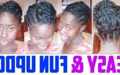 Updo Hairstyles for Medium Length Natural Hair