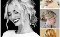 Updo Hairstyles with Bangs for Medium Length Hair