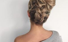 Chunky Two French Braid Hairstyles with Bun