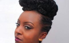 Elegant Cornrow Updo Hairstyles