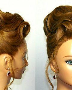 Fancy Updo Hairstyles for Medium Hair