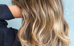 Blonde Balayage on Short Dark Hairstyles