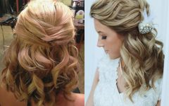 Down Short Hair Wedding Hairstyles