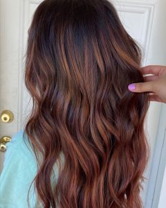 Copper Curls Balayage Hairstyles