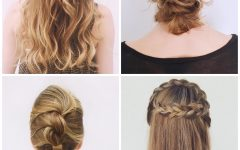 Accent Braid Prom Updos