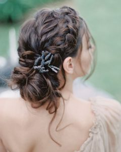 Braided Lavender Bridal Hairstyles