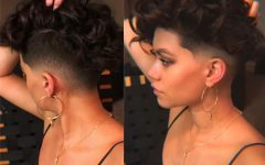 Feminine Curls With Mohawk Haircuts