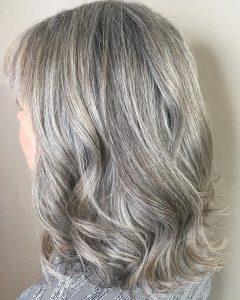 Medium Haircuts with Gray Hair