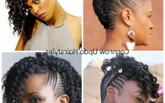 Natural Updo Cornrow Hairstyles