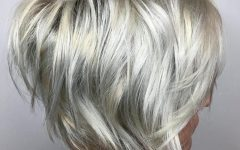 Short Silver Blonde Bob Hairstyles