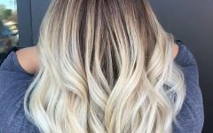 Soft Waves Blonde Hairstyles with Platinum Tips