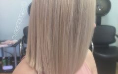 Solid White Blonde Bob Hairstyles