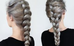 Three Strand Long Side Braid Hairstyles