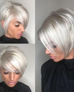 Choppy Side-Parted Bob Hairstyles