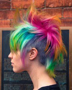 Rainbow Bright Mohawk Hairstyles
