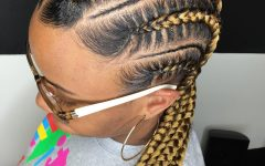 Afro Under Braid Hairstyles