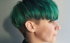 Aqua Green Undercut Hairstyles