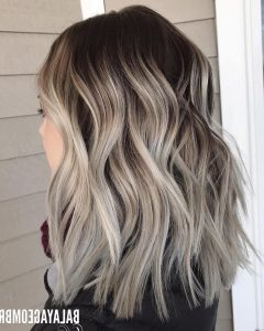Ash Blonde Medium Hairstyles