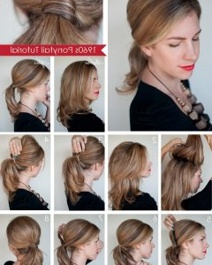 Long Braided Ponytail Hairstyles With Bouffant
