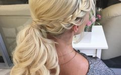 Textured Side Braid And Ponytail Prom Hairstyles