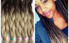 Two Ombre Under Braid Hairstyles