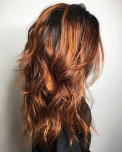 Natural Layers And Ombre Highlights Long Shag Hairstyles