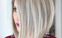 Razored Blonde Lob Hairstyles
