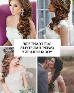 Side Swept Wedding Hairstyles