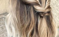 Twisted Updo with Blonde Highlights
