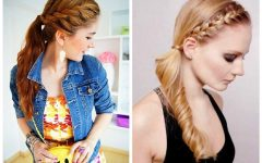 Wavy Side Ponytails With A Crown Braid
