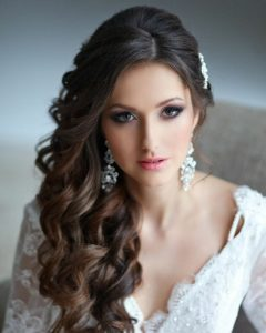 Wedding Hairstyles On The Side With Curls