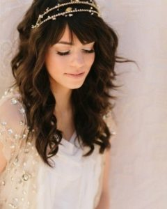Wedding Hairstyles For Long Hair And Fringe