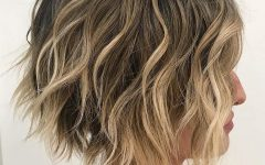 Curly Messy Bob Hairstyles with Side Bangs