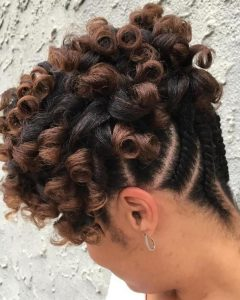 Reverse Flat Twists Hairstyles
