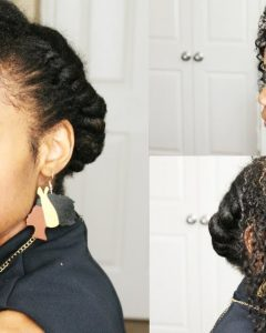 Flat Twist Updo Hairstyles With Extensions