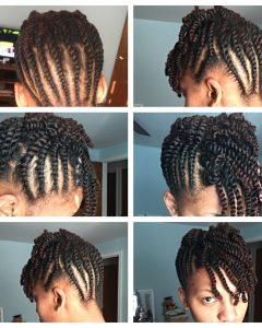 Two Strand Twist Updo Hairstyles For Natural Hair